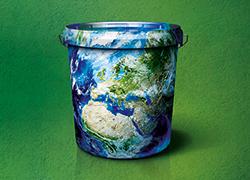 Rigips Promix im Recyclingeimer