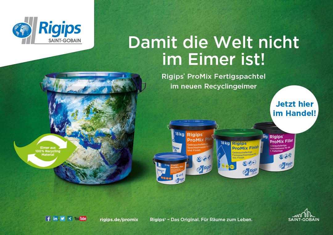 Rigips ProMix Recyclingeimer Plakat